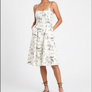 Banana Republic Linen-Cotton Midi Dress